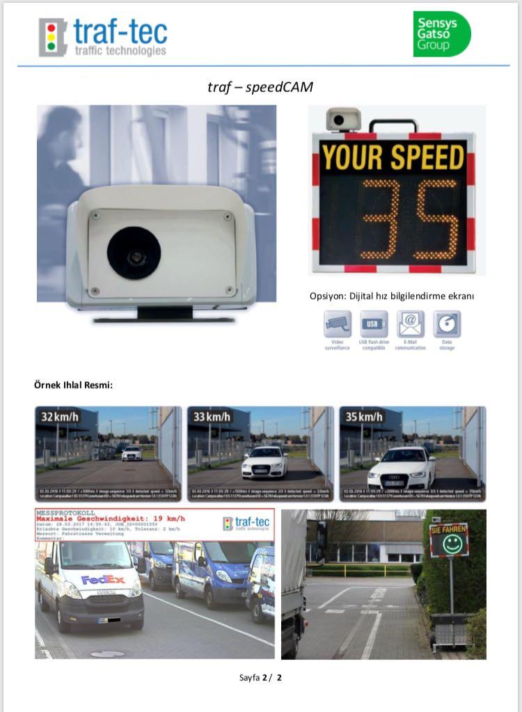fabrika içi hız tespit sistemi
